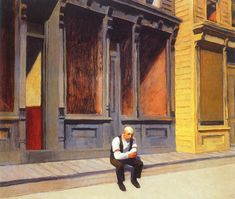 Sunday Artist: Edward Hopper Completion Date: 1926 Style: New Realism Hooper Edward, Edward Hopper Paintings, Ashcan School, Most Famous Artists, Classic Paintings, Art Paintings, Painting People, Manet, Art Database