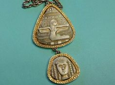 Fabulous Egyptian Revival Necklace Glass by SweetBettysBling