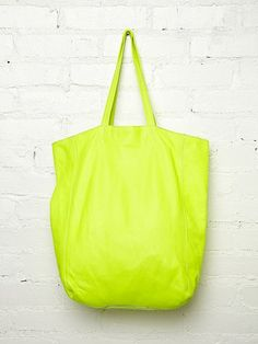 #r29summerstyle | Neon Brio Tote from Free People. Also available in Pink. $288. #freepeople