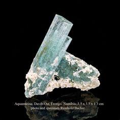 Aquamarine Davib-Ost, Namibia, 3.5 x 3.5 x 1.3 cm