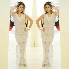 @lojajust vestido lindo em renda!