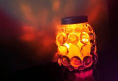 Clever Mason Jar Craft – DIY Prism Light Candle