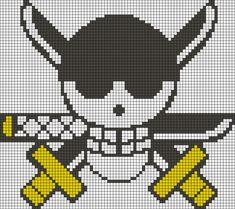 Roronoa Zoro's Jolly Roger - One Piece perler bead pattern