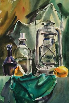 Painting Watercolor Still Life Artists 37 Ideas Watercolor Sketchbook, Watercolor Paintings, Donna Dewberry Painting, Still Life Artists, Still Life Drawing, Nature Artists, Colorful Paintings, Anime Comics, Les Oeuvres