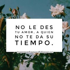 Frases bonitas para compartir - No le des tu amor aquien no se lo merece de verdad #Quotes #Frases #Españolv