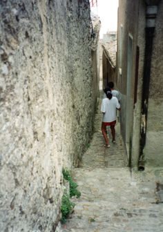 Exploring the narrow streets of Erice
