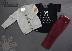 Vest: Cardigan - Grey / Jersey: Eyechart 2.0 / Pants: Skinny - Burgundy * L&P exclusive *