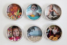 Mini Shadow Box Fridge Magnets.