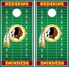 Washington Redskins Cornhole Decal Wrap Field by CornholeGraphics