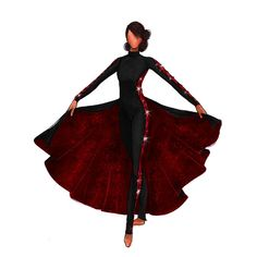 Circus Outfits, Dance Outfits, Dance Dresses, Color Guard Costumes, Creative Costuming Designs, Colour Guard, Color Guard Uniforms, Anime Girl Dress, Red Black Dress
