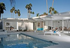 Talk about crisp white and beautiful, this mid century modern home located in Palm Springs was completely stripped down and brought back to it's glory days..