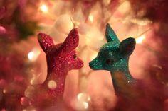 Glitter deer romance