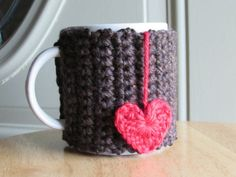 Check out this item in my Etsy shop https://www.etsy.com/listing/206810678/crocheted-cup-cozy-mug-cozy-in-sequoia