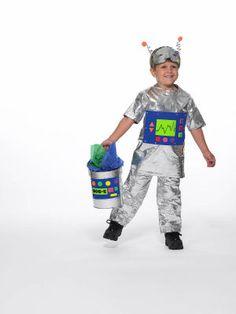 Duck Tape® Robot Costume & Treat Pail, large