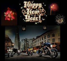 happy new year wallpaper biker quotes holiday wishes harley davidson happy new year background