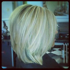 Long stacked bob...just a little longer in the back! not such short layers maybe @Sue Hall