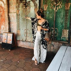 """809 Likes, 3 Comments - 12TH TRIBE (@shop12thtribe) on Instagram: """"Beautiful, magical and exquisite craftsmanship. Wearing: Save Me Snake Pants and Indonesian Kimono…"""""""