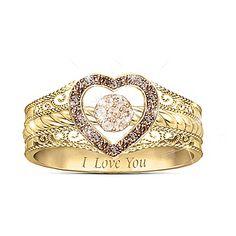 Love Bubbles Over Champagne Diamond Ring Wedding Anniversary Rings, Diamond Anniversary, Wedding Rings, Diamond Bands, Diamond Jewelry, Gold Jewellery, Jewlery, Silver Jewelry, Champagne Diamond Rings