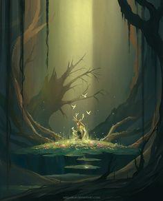 Digital Painting by Niken Anindita. Niken Anindita is a digital art artist and she is fond of digital painting. She draws from landscapes. Wow Art, Fantasy Inspiration, Writing Inspiration, Fashion Inspiration, Fantasy Landscape, Landscape Art, Deviantart, Fantasy Artwork, Fantasy World