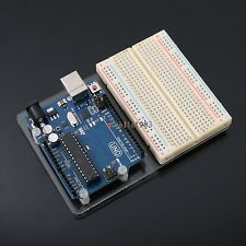 Integrated Circuits Universal Experimental Platform With Uno R3 And 400 Tie Point Breadboard And Transparent Clear Acrylic Board For Profit Small