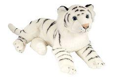 "Laying White Tiger Stuffed Animal - 16"" Class"