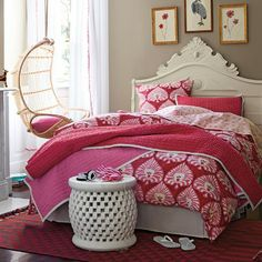 Ramona Duvet - Serena's vivacious version of an Indian damask. The bold floral and punchy palette strike the perfect balance between preppy ...