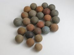 French clay marbles for display