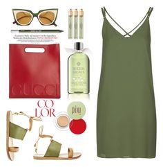 """""""Short trip."""" by gul07 ❤ liked on Polyvore featuring Fendi, Gucci, Steve Madden, Topshop, Urban Decay, Verso, Pixi and Molton Brown"""