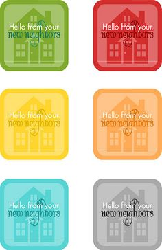 """{free printable} """"Hello New Neighbor"""" Tags"""
