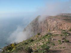 air-born moisture on an arid desert island