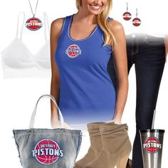Detroit Pistons Tank Top Outfit Pistons Basketball 037427f2c
