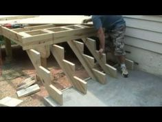 How To Build A Deck 5 - Stairs & Steps When building stairs for your deck you will also be expected to follow the IRC building requirements.