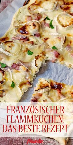 Flammkuchen auf französische Art The classic among the tarte flambées Related posts: cat's propose 수줍은 고백 – The Best 30 Vegan Christmas Cookie Recipes (Egg-free, Dairy-free) Mascarpone squares and three-layer speculoos for a 24 x 24 cm square Best Pancake Recipe, Pancake Recipes, Bistro Food, Ground Beef Recipes, Vegetable Pizza, Food Inspiration, Crockpot Recipes, Vegetarian Recipes, Easy Meals