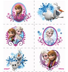 Disney Frozen Tattoos (24) from BirthdayExpress.com