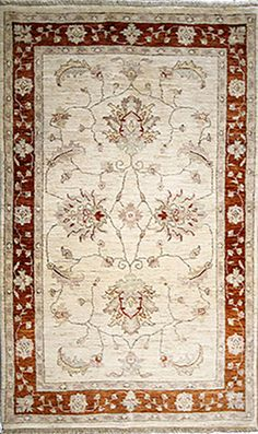 Ivory oriental area rug