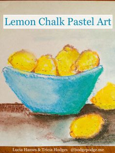 How to Draw a Lemon in Chalk Pastels
