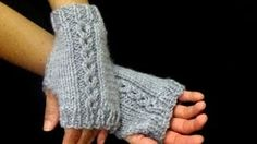 Cómo Tejer Mitones-How to Knit Mittens 2 Agujas - Knitting Stiches, Knitting Videos, Baby Knitting, Knitting Patterns, Crochet Patterns, Love Crochet, Crochet Baby, Knit Crochet, Fingerless Mittens
