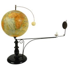 Moon Orrery Edited by Jan Felkl, Late 19th Century | From a unique collection of antique and modern scientific instruments at https://www.1stdibs.com/furniture/more-furniture-collectibles/scientific-instruments/