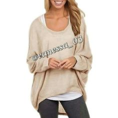 Baggy Hi-Lo Top. READ DESCRIPTION!  I have 2 available!   Beige Polyester. This is a semi sheer (you'll probably want to wear tank top under it) lightweight thin textured sweater. Baggy Hi-Lo top M.    PRICE FIRM unless Bundled. These are NWOT Retail. Sweaters