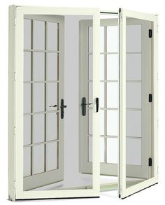 wood french doors with screen doors