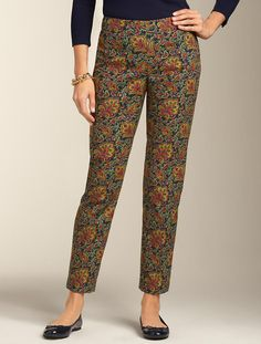 Talbots - Curvy Fit Spring Paisley Ankle Pant |  **I have a few of these pants up for sale on my EBay site (Misses, Petites, Plus, Petite Plus):  victor-and-mia
