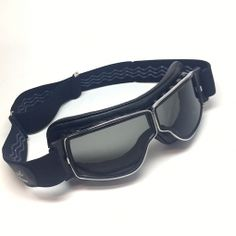 2e8de4c6fe Aviator Goggles by Leon Jeantet. T3 Retro Pilot goggles with grey lenses. Motorcycle  Goggles