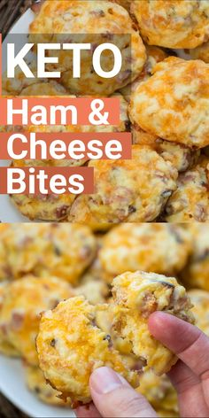 These Keto Ham and Cheese Bites are only 1.5 net carb and great warm or cold! This is an easy keto meal prep recipe! #keto #lowcarb