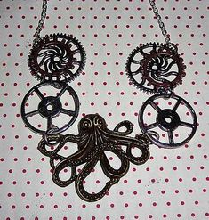 Collier à 10€ Alex And Ani Charms, Bronze, Charmed, Jewelry, Steampunk Necklace, Octopus, Jewlery, Jewerly, Schmuck
