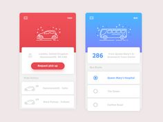 Fundamental Concepts of List UI Design for Mobile Apps Mobile App Design, Mobile App Ui, App Ui Design, Bus App, Application Design, Mobile Application, Ui Design Inspiration, Ui Web, Apps