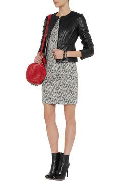 Diane von Furstenberg Maya leather jacket - 50% Off Now at THE OUTNET