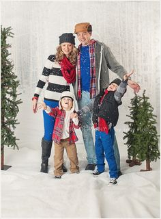 What to wear family winter sessions!