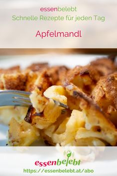 Apfelmandl, kennst Du das? Damit verbinde ich Kindheitserinnerungen.   Eine Gemüsesuppe als Vorspeise und dann Apfelmandl. Ein relativ   kalorienarmes Dessert. Baked Potato, Easy, Potatoes, Baking, Ethnic Recipes, Food, Low Calorie Desserts, Fast Recipes, Simple Recipes