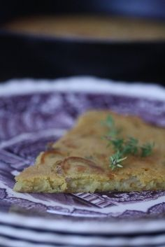 GLUTEN-FREE IS ME: SOCCA WITH SHALLOTS AND THYME
