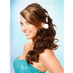 Be the Belle of the Ball 10 Homecoming Hairstyles ❤ liked on Polyvore featuring hair and hairstyle